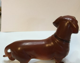 Napco Dachsund Figurine Porcelain