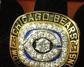"1985 Walter Payton Super Bowl Champions ""Sweetness"" Ring"