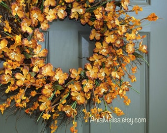 fall wreaths for front door wreaths, decorations, fall autumn Thanksgiving wreaths outdoors decor housewares, wreaths