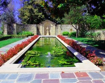Greystone Mansion Garden LA