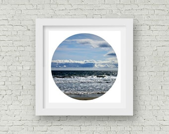 Venice Beach Photography Circle Art Print Beach Decor California Beach Art