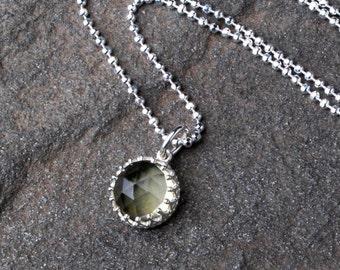 Yellow Lemon Quartz Gemstone Necklace- Elegant Gemstone Necklace- Simple Quartz Jewelry-Minimalist Silver Gemstone Necklace- Bridesmaid Gift