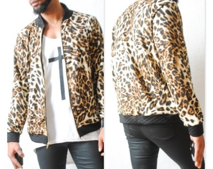 Cheetah Printed Bomber Jacket
