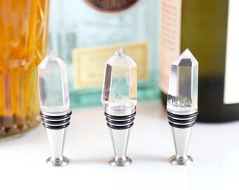 Crystal Wine Stopper--Quartz Wine Stopper--Crystal Bottle Stopper