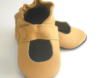 soft sole baby shoes handmade infant gift sandal yellow 6-12 m ebooba SN-12-Y-M-2