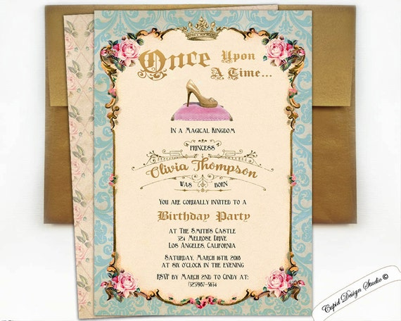 Cinderella ball invitation cinderella party cinderella invite for Cinderella invitation to the ball template