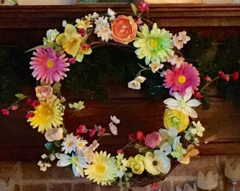 Door Wreath for the Spring/Summer
