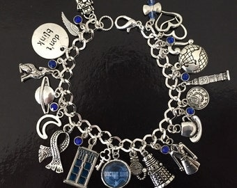 Doctor Who Charm Bracelet, Dr Who, Time Lord, Whovian Gift? Fandom
