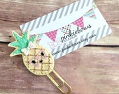 Pink/Gold/Geeky Pineapple/Sparkle Applique Paper Clip/Planner Clip/Journal Marker/Bookmark