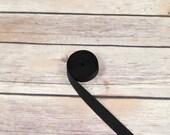 """5 Yards Black 5/8"""" (15mm) Satin Faced Plush Back Strap Elastic Latex Free Bramaking Bra Making Supplies"""