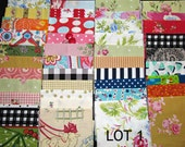 Fabric destash scraps for crafting quilting applique doll clothes 1 pound LOT 1