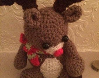 Crocheted Christmas Reindeer