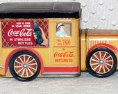 1990's  Coca Cola Truck Collectible Tin/Container(Fair Condition)
