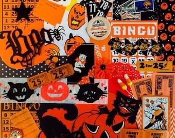 Vintage Halloween Inspiration Kit*Orange and Black Halloween Ephemera Pack