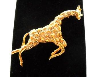 Designer HATTIE CARNEGIE Iconic Vintage Giraffe  Brooch Pin  circa 1950