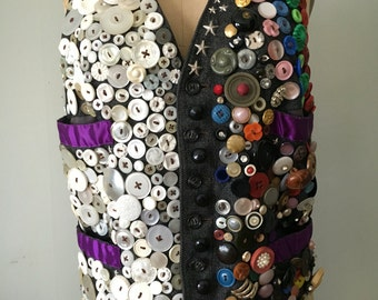 Vintage button vest
