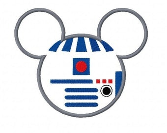 R2D2 Mouse Custom embroidered Disney Inspired Vacation Shirts for the Family! 45