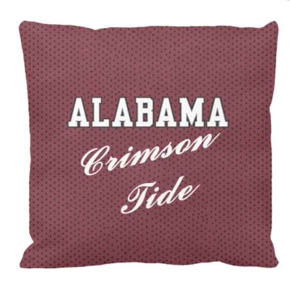 Alabama Crimson Tide Football Pillow Gifts for by HalfBakedArt