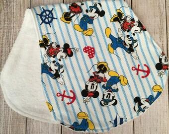 Mickey/Minnie Burp Cloth