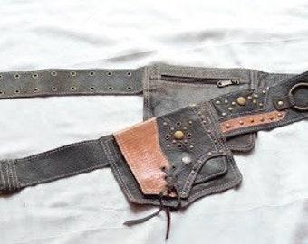 Geniune leather hip belt - unisex