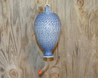 Textured Blue Hummingbird Feeder