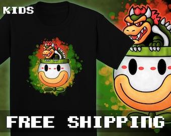Bowser's Ride T-shirt, Kids, Toddler, Baby * Free Shipping * Great Gamer Gift