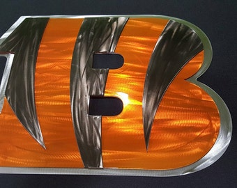 Bengals metal wall art-ready to ship