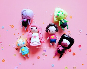 Chibi Steven Universe The Crystal Gems Necklaces