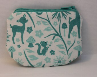 Little Zipper pouch, coin purse Squirrel