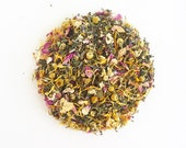 BEAUTY SLEEP Organic Herbal Tea, Relaxing and Wellness Tea Blend, Loose Leaf Tea - Calendula, Rose Petals, Chamomile Tea, Lavender
