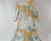 Vintage patchwork multi-colored nightgown