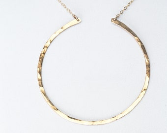 Large Open Circle Necklace, circle necklace