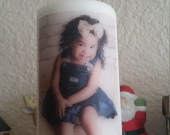 "6"" Personalized Photo Candles"