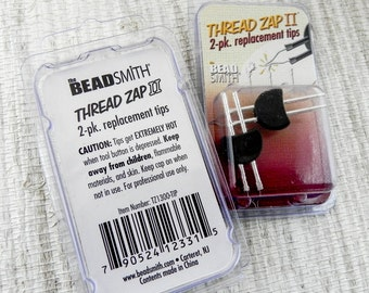 Thread Zap 2 Thread Burner Tip Replacement - 2 Pack Replacement Tip for Thread Zap II