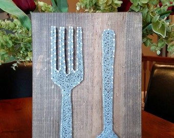 Spoon and Fork String Art