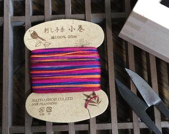 Japanese Sashiko Thread/ Hand Embroidery Thread/ # Purple, Ruby Red, Wine Red