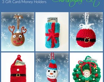 Christmas Ornament and Gift Card or Money Holder Bag INSTANT DOWNLOAD
