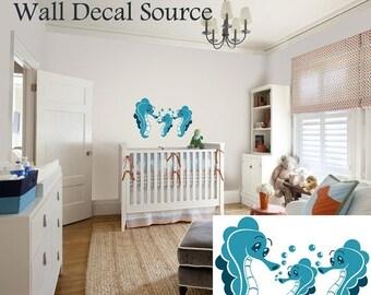 Seahorse Wall Decal - Ocean Wall Decal - Vinyl Sticker