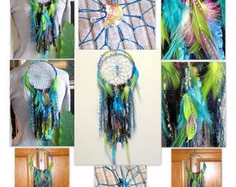 Dream Catcher, Wall Hanging, Dreamcatcher, Silk Wall Hanging, Hippie Decor, Bohemian Decor, Home Decor