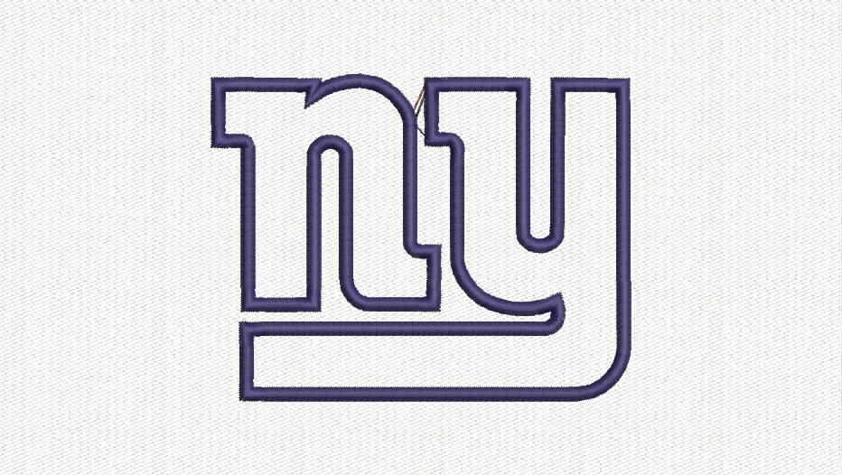 Ny giants applique embroidery design from preciousbouquet