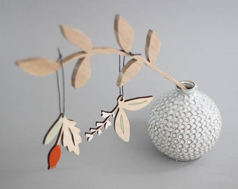 Christmas Decorations - Christmas Tree Ornaments - Holiday decoration - Flora & Rosehip Styles