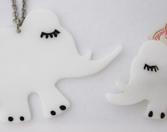 Elephant jewelry White and lovely!