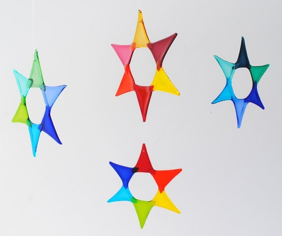 e50-03 Flat Fused Star Suncatcher