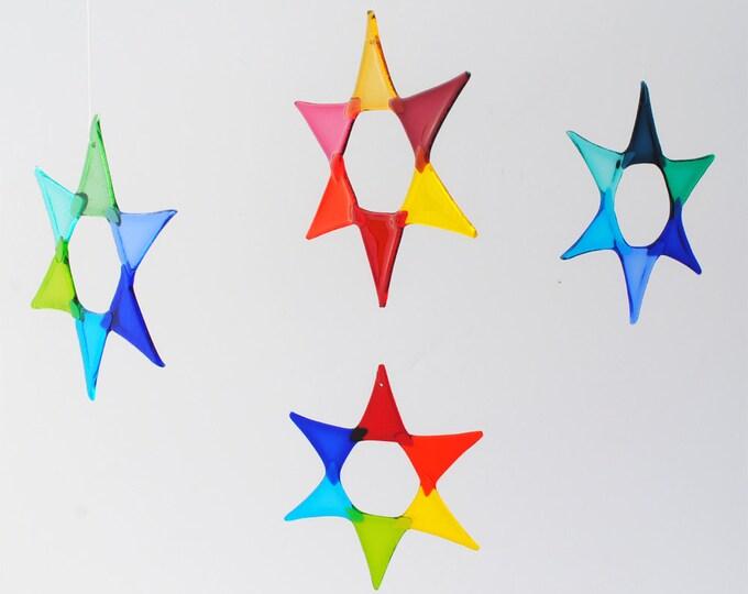 e50-03 Flat Fused Star Suncatcher