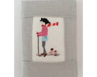 Girl and her Dog on Scooter Needle Book