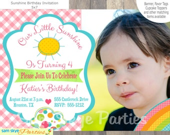 You Are My Sunshine Invitation, Sunshine Birthday Parties, Sunshine Party,  Baby Shower Printable File