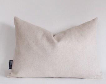 Linen Pillow, Natural Linen Lumbar Pillow, Rav Linen Pillow, Decorative pillow Cover, All Sizes