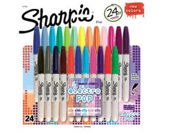 Sharpie 24 count electro pop fine point