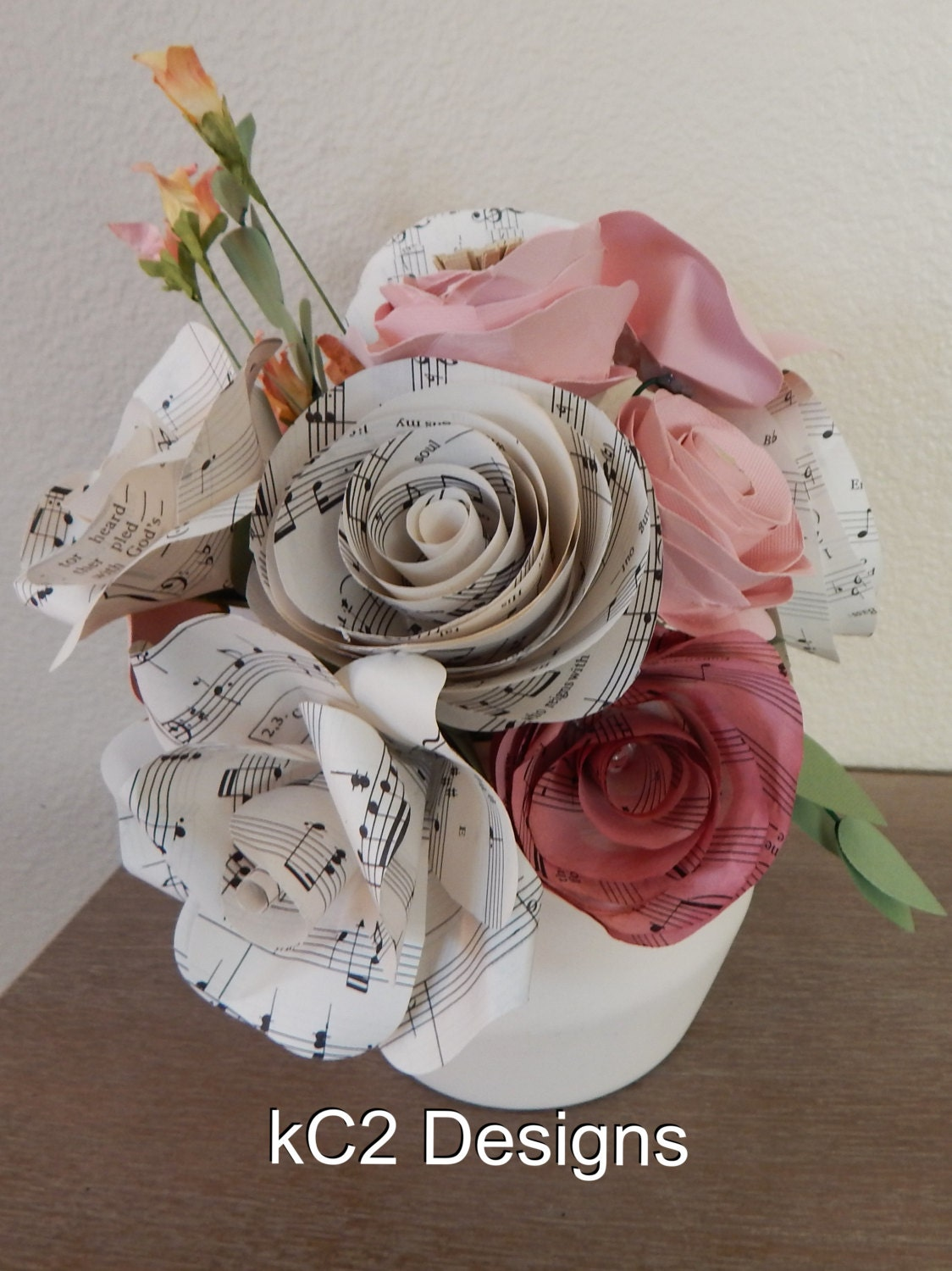 Paper flowers centerpieces table numbers valentines day