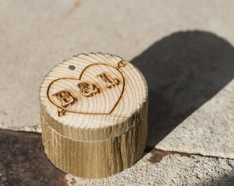 Custom Engraved Wood Ring Box - Staghead Designs